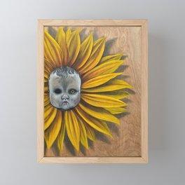 babyflower Framed Mini Art Print