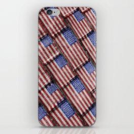 Usa Flag Grunge Pattern iPhone Skin