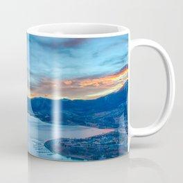 Lakeside Sunset // Mile High Rocky Mountain Orange and Blue Sky Coffee Mug