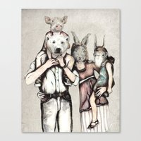 family Canvas Prints featuring Family by RiversAreDeep
