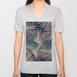 Tropical Fan Palm Leaves #5 #tropical #decor #art #society6 Unisex V-Neck