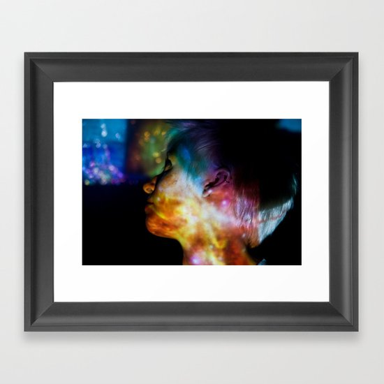Don't Look Back: Projection Series #9 Framed Art Print
