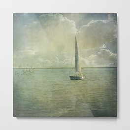 Catching the Wind Metal Print