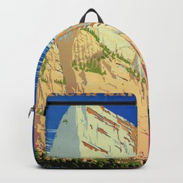 WPA vintage Travel poster - Zion National Park - National Park Service Backpack