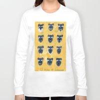 schnauzer Long Sleeve T-shirts featuring Schnauzer by Sonia Ku