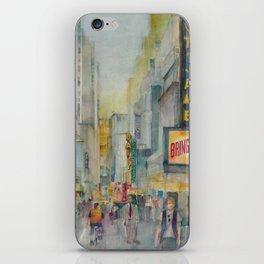 Broadway,  New York - Five O'Clock Revised iPhone Skin