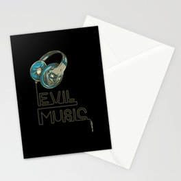 evil music Stationery Cards