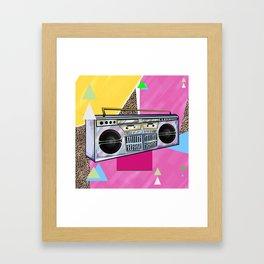 Jammin BoomBox 90's Flava Framed Art Print