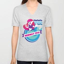 Cute Mermay Mermaid Art Challange Unisex V-Neck