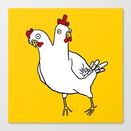 Chicken Dos Cabezas Canvas Print