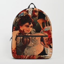 "Alphonse Mucha ""Biscuits Champagne Lefèvre Utile"" Backpack"