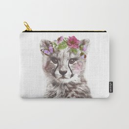 Cheetah with flowers Carry-All Pouch