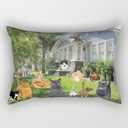 Cottage Cats2 Rectangular Pillow