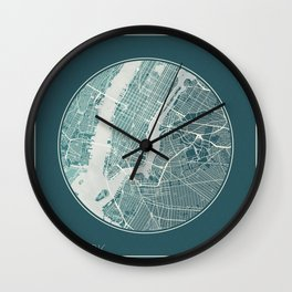 New York Map Planet Wall Clock