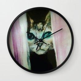 Peeking Pussy Wall Clock