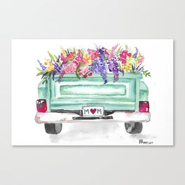 Floral Truck Canvas Print