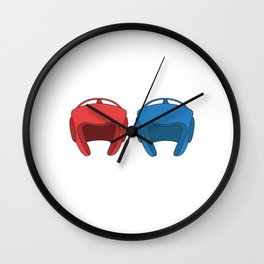 The Fighter's Sparring Tshirt Design Sparring partner Wall Clock
