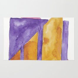 180818 Geometrical Watercolour 2| Colorful Abstract | Modern Watercolor Art Rug