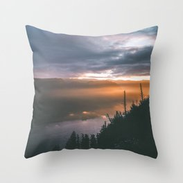 Early Mornings Throw Pillow
