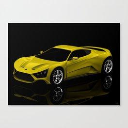 Fictional #3ds Sports Car Canvas Print