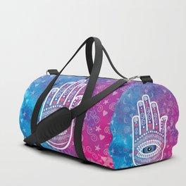 Hamsa Prayer Duffle Bag