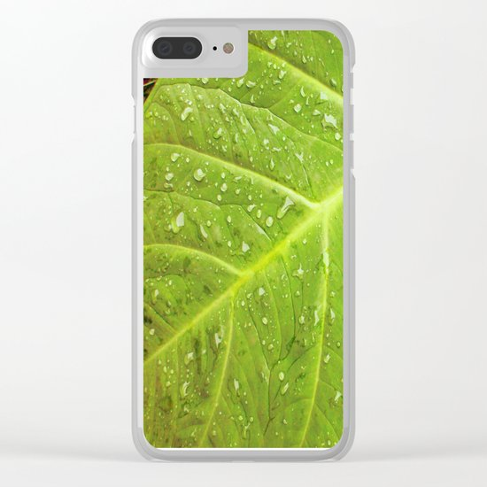 Alocasia After the Rain Clear iPhone Case