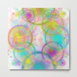 many colorful circles and lights Metal Print