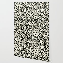 black and white feather texture Wallpaper