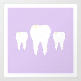 Les Dents Art Print