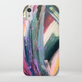 Eye of the Beholder [4]: a colorful, vibrant abstract in purples, blues, orange, pink, and gold iPhone Case