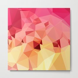 Rose Bonbon Pink Abstract Low Polygon Background Metal Print