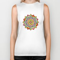 manchester Biker Tanks featuring Manchester Mandala  by Patricia Shea Designs