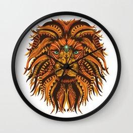 Mandala Lion Wall Clock