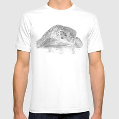 A Green Sea Turtle :: Grayscale Mens Fitted Tee White MEDIUM