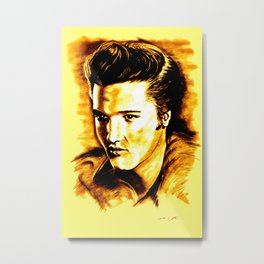 Elvis Gold Metal Print