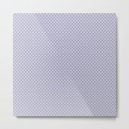 Periwinkle Purple Scales Pattern Metal Print