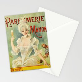 Plakat parfumerie manon  1900 vintage Stationery Cards