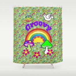 Groovy Skies Shower Curtain