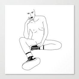 A Womans Stare Canvas Print