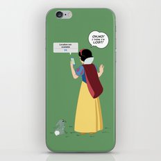 SnowWhite - A smile and a song iPhone & iPod Skin