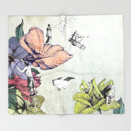 Flower forest Throw Blanket
