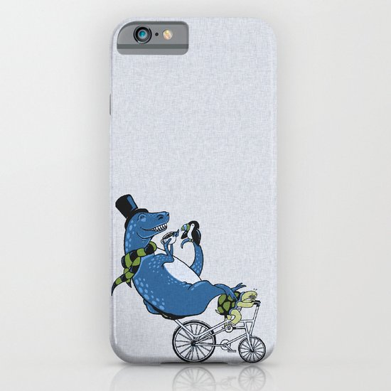 Tandem T-Rex Tastes Tea with Tucan, as Turtle Toils iPhone & iPod Case