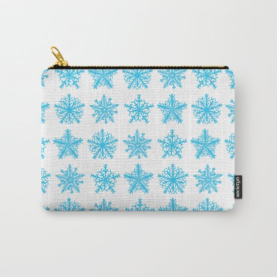 Sky Blue Star Pattern Carry-All Pouch