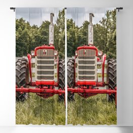 IH 240 Red International Farmall Tractor Front View Blackout Curtain
