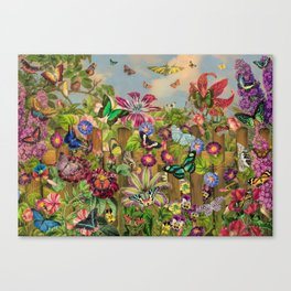 Butterfly Garden Canvas Print