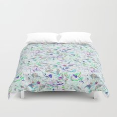 Marbled in blues Duvet Cover