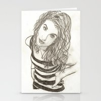 hayley williams Stationery Cards featuring Hayley Williams by Dead Rabbit