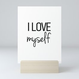 I love myself Mini Art Print