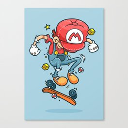 Skate Mario Canvas Print
