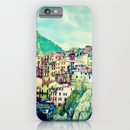 Houses Cinque Terre  | Italy Travel Photography | Travel photo Art iPhone Case